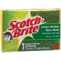 Esponja Dupla Face 3M Scotch Brite 110x75